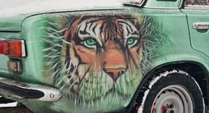 aerografiya tigr - Тюнинг ваз 2101 своими руками фото чертежи