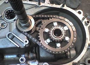 Коробка передач самодельного квадроцикла в собранном виде