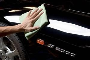 Процесс полировки машины