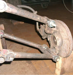 Ступицы и подвеска самодельного квадроцикла