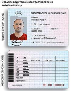 Водительское удостоверение в РФ