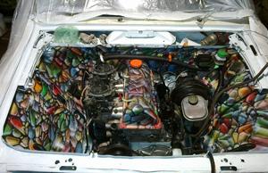 Аэрография подкапотной части автомобиля