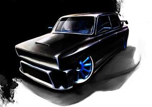 Рисунок тюнинга ВАЗ 2105