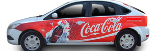 Реклама Кока-Кола на авто