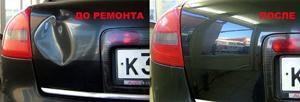 Методы устранения вмятин на авто