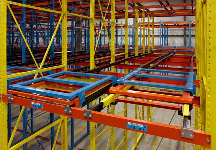 Компания Таргетгруп предлагает выгодно купить складские стеллажные системы push-back
